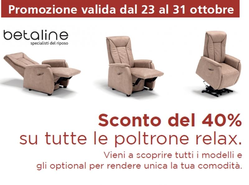 40% di SCONTO sulle POLTRONE RELAX!!!